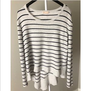 Nordstrom high low sweater striped